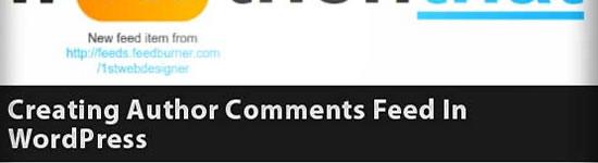 Criar um Autor Feed Comentários no WordPress