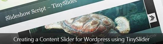 Criando um Content Slider para WordPress utilizando TinySlider