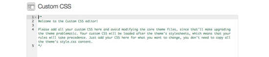Adicionando um Editor de CSS personalizado para o seu tema usando ACE