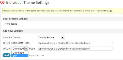 Como adicionar uma barra de Demonstração Tema no WordPress