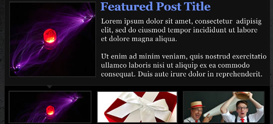 Um Content Slider elegante destaque para WordPress
