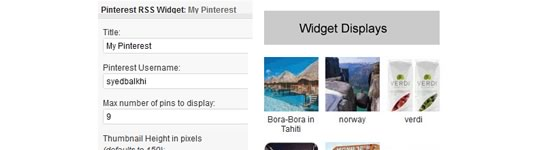 Como mostrar seus pinos Últimas Pinterest no WordPress Sidebar Widgets