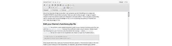 Adicionando estilos personalizados no WordPress TinyMCE Editor de