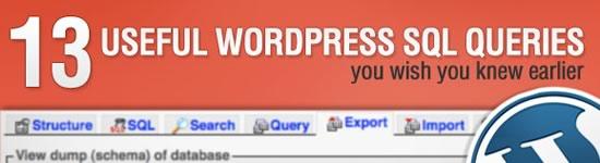 13 úteis Consultas WordPress SQL Você Wish You Knew início