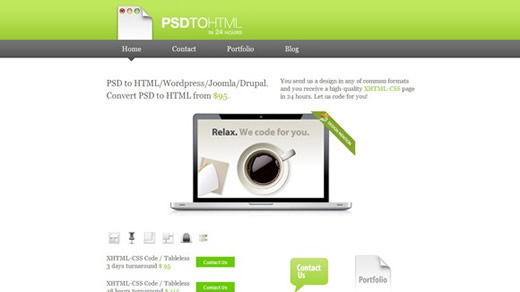 My PSD to HTML
