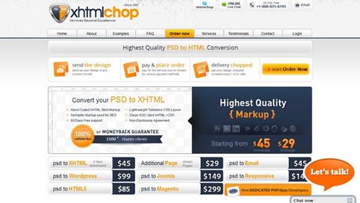 XHTML chop